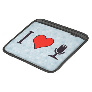 I Heart Using A Microphone iPad Sleeves