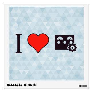 I Heart Using Control Panel Wall Sticker