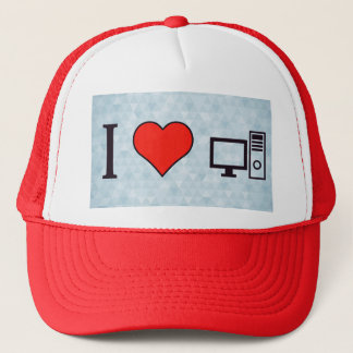 I Heart Using Desktop Trucker Hat