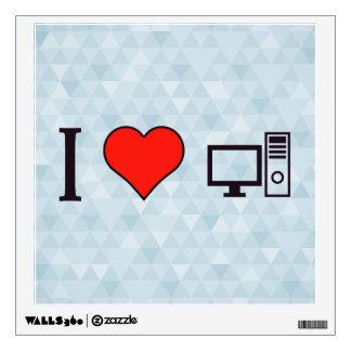 I Heart Using Desktop Wall Sticker