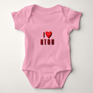 I Heart Utah Baby Bodysuit