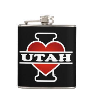 I Heart Utah Flask