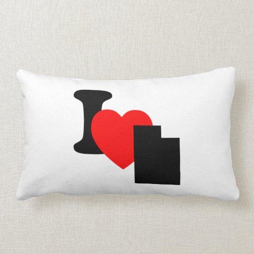 I Heart Utah Throw Pillow