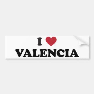 I Heart Valencia Bumper Sticker