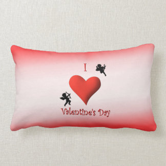 I Heart Valentine's Day Mojo Lumbar Pillow