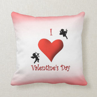 I Heart Valentine's Day Mojo Throw Pillow