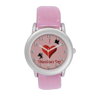 I Heart Valentines Day Wrist Watches