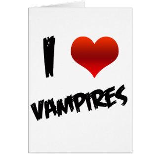 I Heart Vampire Greeting Card