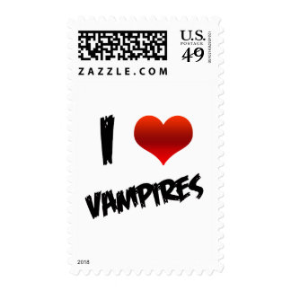 I Heart Vampire Postage Stamps