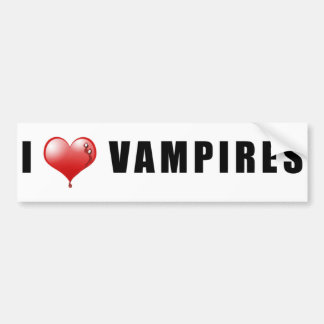I Heart Vampires Bumper Sticker