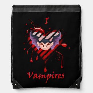 I Heart Vampires Drawstring Backpack