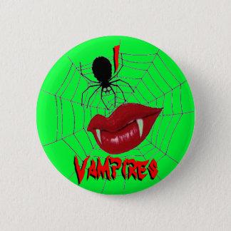 I Heart Vampires {Lime Green} Button