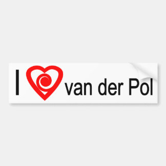 I heart van der Pol Car Bumper Sticker