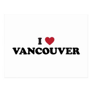 I Heart Vancouver Canada Postcard