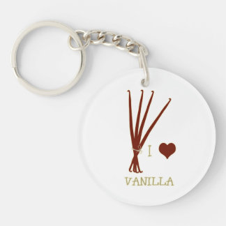 I heart Vanilla Keychain