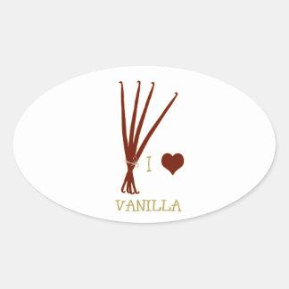 I heart Vanilla Oval Sticker