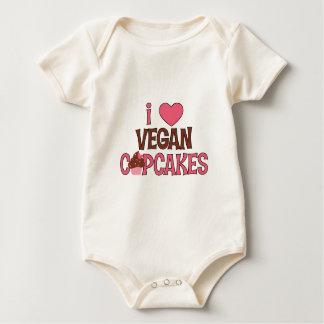 I Heart Vegan Cupcakes Baby Bodysuit