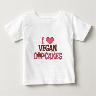 I Heart Vegan Cupcakes Baby T-Shirt