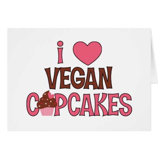 I Heart Vegan Cupcakes Card