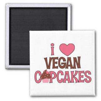 I Heart Vegan Cupcakes Fridge Magnets