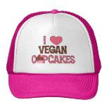 I Heart Vegan Cupcakes Mesh Hat