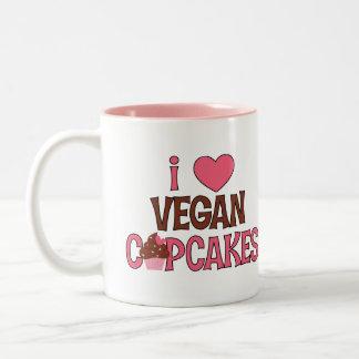 I Heart Vegan Cupcakes Two-Tone Coffee Mug