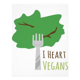 I Heart Vegans Customized Letterhead