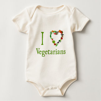 I Heart Vegetarians Baby Bodysuit