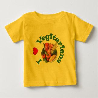 I Heart Vegetarians Baby T-Shirt
