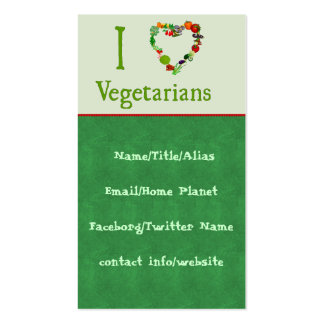 I Heart Vegetarians Double-Sided Standard Business Cards (Pack Of 100)