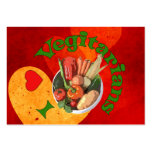 I Heart Vegetarians Large Business Cards (Pack Of 100)