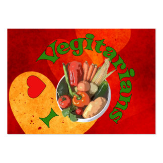 I Heart Vegetarians Large Business Cards (Pack Of 100)