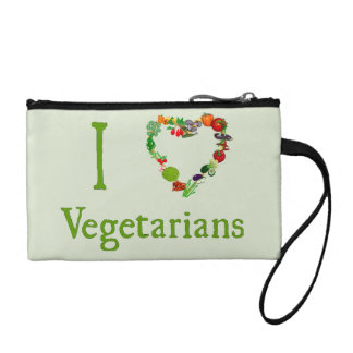 I Heart Vegetarians Coin Purse
