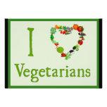 I Heart Vegetarians Custom Announcements