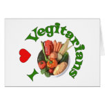 I Heart Vegetarians Greeting Card