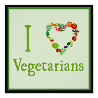 I Heart Vegetarians Invitation