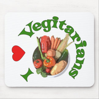 I Heart Vegetarians Mouse Pad