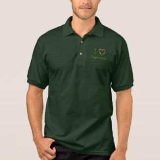 I Heart Vegetarians Polo Shirts