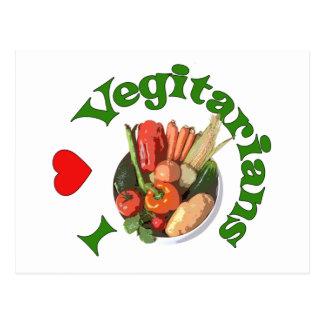 I Heart Vegetarians Postcard