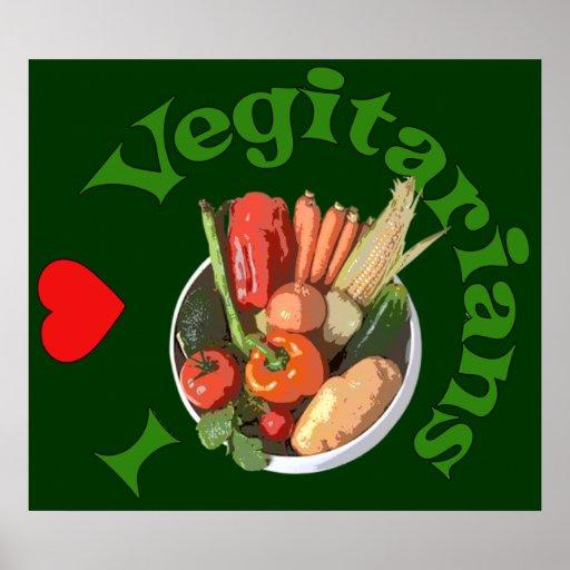 I Heart Vegetarians Posters