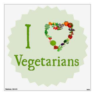 I Heart Vegetarians Wall Sticker