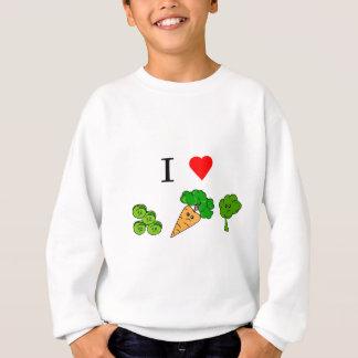 i heart veggies sweatshirt