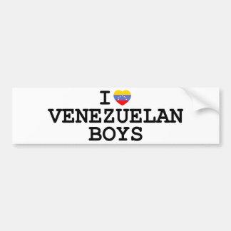 I Heart Venezuelan Boys Bumper Stickers