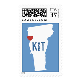 I Heart Vermont - Customizable City Stamp