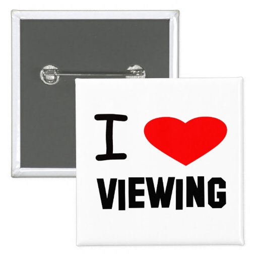 I Heart viewing 2 Inch Square Button