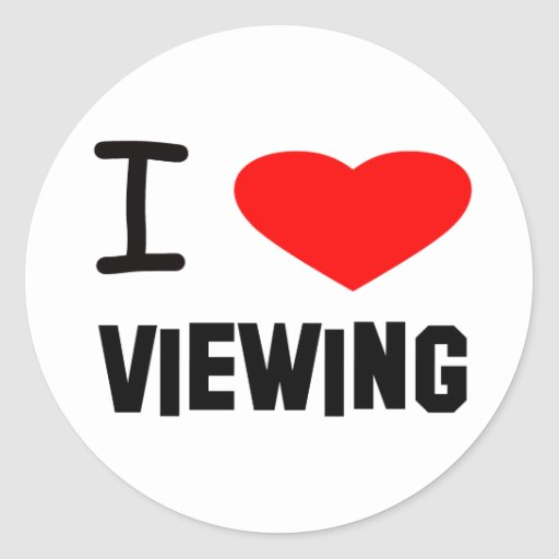 I Heart viewing Classic Round Sticker