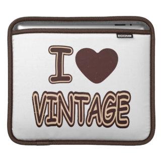 I Heart Vintage - iPad sleeve
