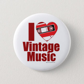 I heart vintage music button
