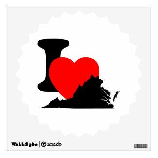 I Heart Virginia Wall Decal