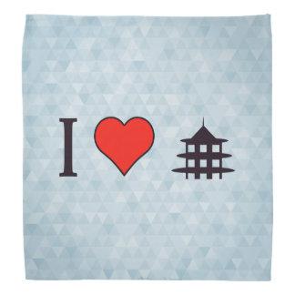 I Heart Visiting Chinese Temple Bandana